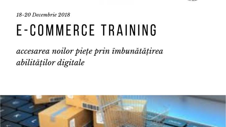 """Seminar """"E-commerce: accesarea noilor piețe prin îmbunătățirea abilităților digitale"""", 18-20 decembrie."""